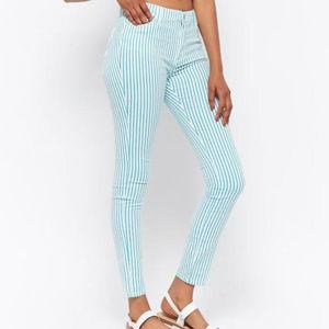 F21 Striped Skinny Pants